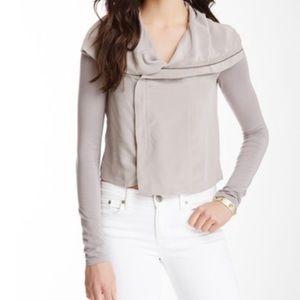 Nordstrom Addison Birch Silk Jacket